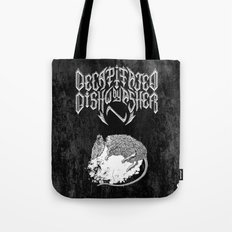 Decapitated by dishwasher II (black) Tote Bag