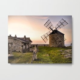Windmills of Montedor Metal Print