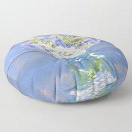 Rustic Hydrangea In Mason Jar Floor Pillow