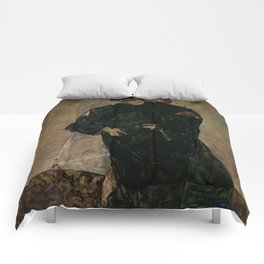 "Egon Schiele ""The Hermits"" Comforters"