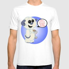 Lil wampa (blue) MEDIUM White Mens Fitted Tee