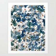 Georgia Floral Blue Art Print