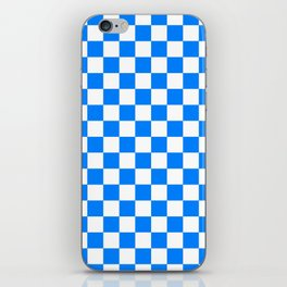 Checker (Azure/White) iPhone Skin