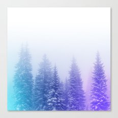 Blue and Purple Pines Canvas Print