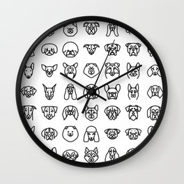 CUTE DOGS / PUPPIES PATTERN Wall Clock