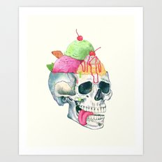 brain freeze Art Print