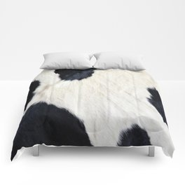 Cowhide Black and White Comforters