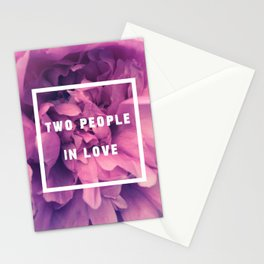 Two People In Love Stationery Cards