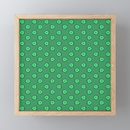 Green flowers on green Framed Mini Art Print