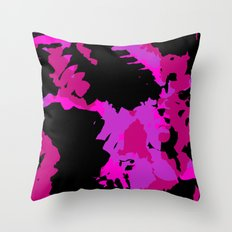 Fuchsia and black abstract Throw Pillow