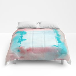 180815 Watercolor Rothko Inspired 9| Colorful Abstract | Modern Watercolor Art Comforters