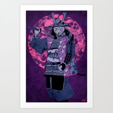Samurai Kitty Art Print