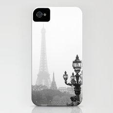 Veiled Eiffel Tower Slim Case iPhone (4, 4s)