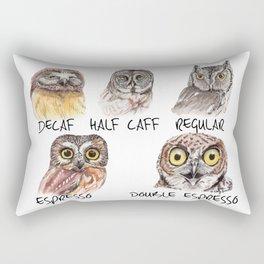 Owl Caffeine Meter -  funny owl coffee Rectangular Pillow