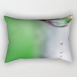 macro water drops Rectangular Pillow