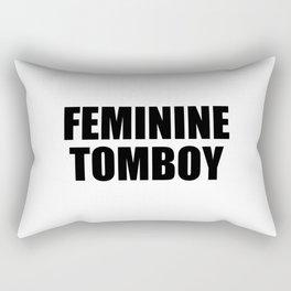 Feminine Tomboy Rectangular Pillow