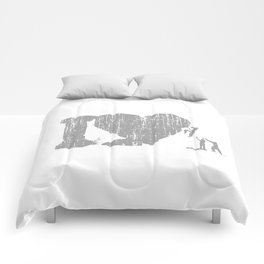 I Love Bouldering (white) Comforters