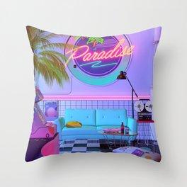 Paradise Wave Throw Pillow