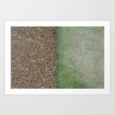 Grass and Mulch Art Print