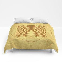 Alien crop circle. Sacred geometry. Comforters