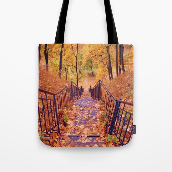 Stairs in the Fall Tote Bag