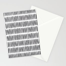 Classy Handpainted Stripes Pattern, Scandinavian Design Stationery Cards