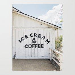 Ice Cream & Coffee Poster