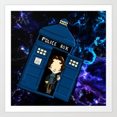Tardis in space Doctor Who 8 Art Print