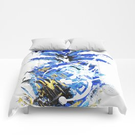 Chase the Blue Pineapple Comforters