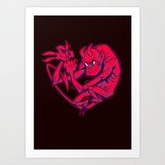 THE DEVIL MADE ME DO IT Art Print