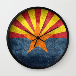 Flag of Arizona, Vintage Retro Style Wall Clock