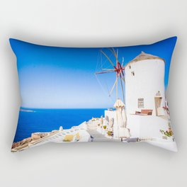 Santorini windmill Rectangular Pillow