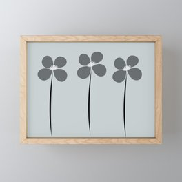 Cute Night Flowers Framed Mini Art Print
