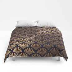 Art Deco Shell Pattern Comforters