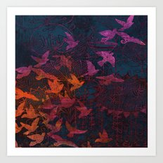 I want to fly away Art Print