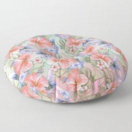 Hibiscus Aloha Stripe Floor Pillow