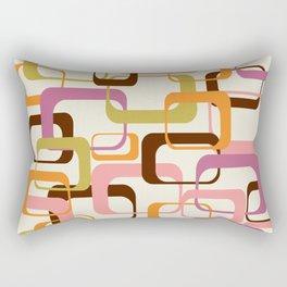 Mid Century Mod Shapes Rectangular Pillow