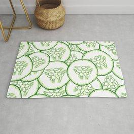 Cucumber slices pattern design Rug