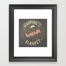 Happiness is a Warm Blanket Framed Art Print