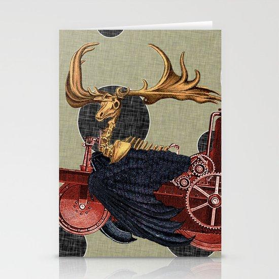 Stitchpunk Caribou Stationery Cards