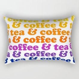 Coffee & Tea Rainbow Mug Rectangular Pillow