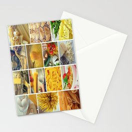 Collage Pasta food Stationery Cards
