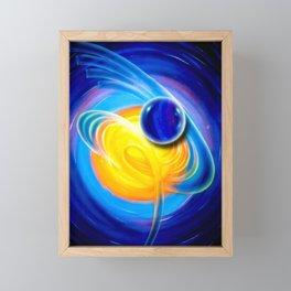 Abstract perfection - Circle Framed Mini Art Print