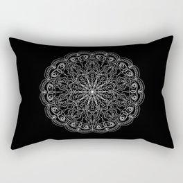 Mandala, Exhibits Radial Balance, Spiritual and Ritual Symbol Rectangular Pillow
