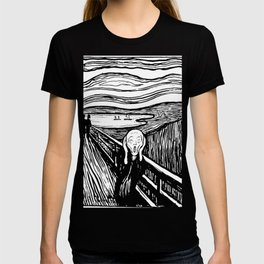 THE SCREAM - EDVARD MUNCH - LITHOGRAPH T-shirt