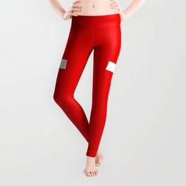 Flag of Switzerland 2:3 scale Leggings