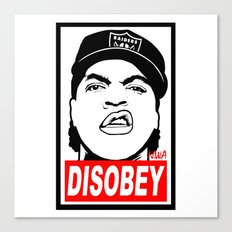 Disobey Cube Canvas Print