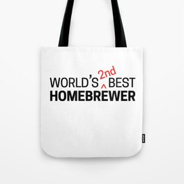 World's 2nd Best Homebrewer Tote Bag