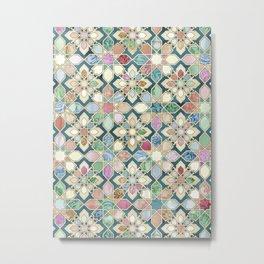 Muted Moroccan Mosaic Tiles Metal Print