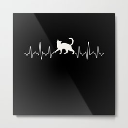 Cats Heartbeat Metal Print